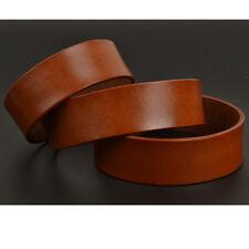 Blank Genuine Calf Leather Belt Strap Cow Hide Natural Veg Tan 38.5mm 100-140cm