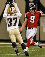 STEVE GLEASON 8X10 PHOTO NEW ORLEANS SAINTS NFL FOOTBALL PICTURE BLOCKED PUNT
