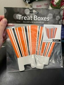 Creative Converting Halloween Striped Treat Boxes 4ct New!!!
