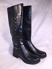 LifeStride Womens Marvelous Black Riding Boots 7 M D5983S1001 - NEW
