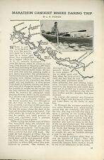 1919 Magazine Article Canoe Trip From Seattle to Skagway Alaska Canada Travel
