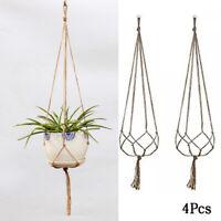 Pot Holder Macrame Plant Hanger Hanging Planter Basket Jute Braided Rope New