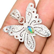 Butterfly - Ethiopian Opal 925 Silver Pendant Jewelry AP172023