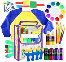 Glokers Early Learning Kids Paint Set, 30 Piece Mini Flower Sponge Paint Brushes