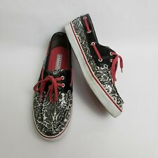 Sperry Top Sider Womens Shoes Sequin Lace Up Black White Pink Size US 8.5 M