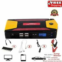 82800mAh Portable Car Jump Starter Pack Booster Charger Battery Power Bank dD