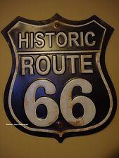 METAL XLARGE ROUTE 66 road street DECOR vintage style rustic garage mancave logo