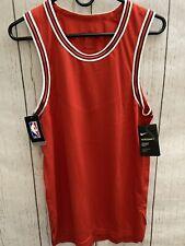 Mens Nike Aeroswift NBA Red Blank Basketball Jersey Bulls Sz 40 S Ah8792 657