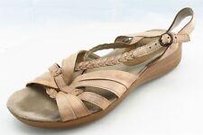 Baretraps Size 7 W Brown Slingback Leather Women Sandal Shoes