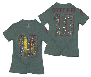 NFL Youth Girls Washington Redskins Robert Griffin III Splatter Tee T-Shirt