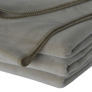 Vellux Velour Blanket, Sandalwood, Queen (Lightweight, Plush, Soft)