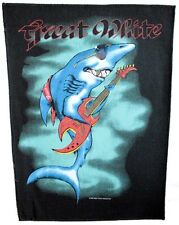 GREAT WHITE-Rockin Shark-Backpatch-dos écusson-neuf - #055