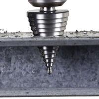 5-35mm High-speed Steel HSS Spiral Flute Step Cone Drill Bit Hole Cutter Tools #