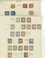 GERMAN BAVARIA STAMP COLLECTION BAYERN. EARLIEST STAMPS ARE FROM 1862