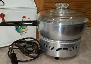 Vintage 1960's West Bend Popcorn Popper Pot with Glass Lid Made in USA