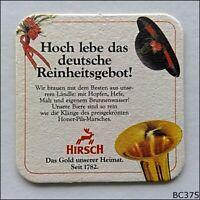 Hirsch Honer Pils Hoch lebe das deutsche Reinheitsgebot Coaster (B375)