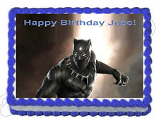 """Black Panther  Edible Icing Image Cake topper Decoration -7.5""""x10"""""""