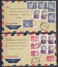 POLAND,, OVERPRINT  GROSZY   ''  ON ,,2 ''  COVERS    10.  08.  1951