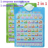 Russian Alphabet Letters Numbers Sound Wall Interactive Talking Poster Children