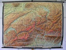 Schulwandkarte map Zürich Genf Schweiz Suisse Svizzera 211x157cm alte Version
