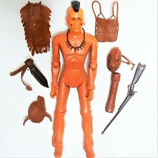 Marx FIGHTING EAGLE Johnny West Action Figure Native American Indian Accessories