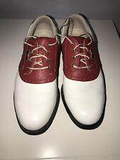 FootJoy MYJoys DryJoys 99500 Women Size 61/2M White Black Leather Golf Shoes