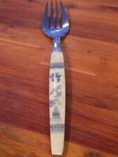 Blue willow Individual Fork Silver plate Silverware Decorative Plastic Vintage