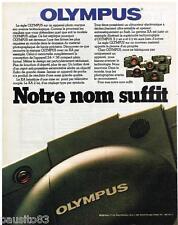 PUBLICITE ADVERTISING 085 1981  OLYMPUS  appareil photo XA2