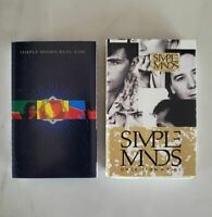 SIMPLE MINDS - Lot of 2 Cassettes - Real Life and Once Upon a Time