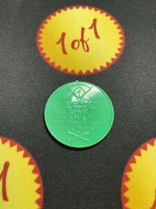 1960 Armour Hot Dog Coin Curt Simmons Green Philadelphia Phillies GF7