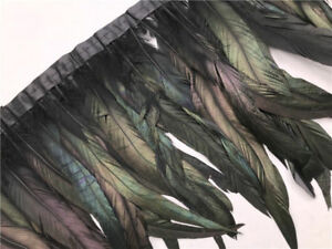 1-10 yards beautiful rooster tail feathers Trims ribbon 12-14 inches / 30-35 cm