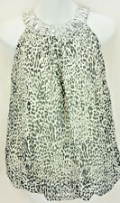 Pinky Brand Black & White Leopard Sequin Accent Top Tunic Youth Girl's Size 7/8