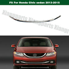 Front Lower Bumper Chrome Cover Stripe Trim For Honda Civic sedan 2013-2015 14