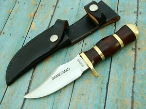 VINTAGE HOFFRITZ  FIXED BLADE TACTICAL HUNTING GAMESMAN BOWIE KNIFE SET KNIVES