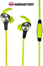 Monster iSport Intensity In-Ear Fitness Wired High Performance Headphones Green