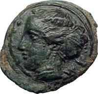 HIMERA in SICILY 415BC NYMPH & Success Wreath Genuine Ancient Greek Coin i73986