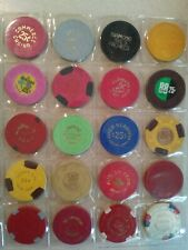 Lot Of 20 Vintage rare casino chips