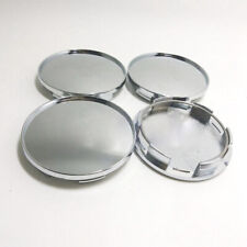 4 Pieces 68mm Universal Car Wheel Center Hub Caps Covers Set Chrome Silver
