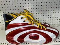 Reebok Shaqnosis Miami Heat Mens Basketball Shoes Size 11.5 White Red Yellow