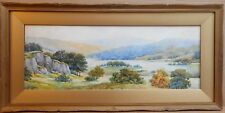 Rydal Water from White Moss Common. Watercolour by Norman Leech, circa 1930