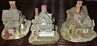 Lilliput Lane Classics Trio*Mini Vine Cottage*Diamond Cottage*Double Cottage
