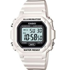 Casio F108WHC-7A, Chronograph Watch, White Resin, Alarm, 7 Year Battery