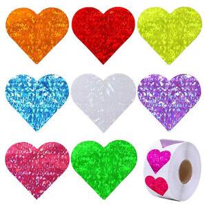 500PCS Heart Shape Love Valentine's Day Sticker Sealing Stickers Gift Decoration