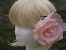 Pink blooming rose flower - hair clip,brooch,fascinator handmade gift summer