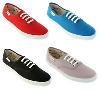 NEW Victoria Women's Lace Up Canvas Shoes 100% Organic Cotton VEGAN Sneakers