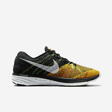 Nike Flyknit Lunar 3 Black/Orange 698181-003 DS Multi racer Trainer HTM sz 8 new