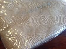 """Peacock Alley Madeleine Queen Coverlet Gold New $405 Made in USA 96"""" x 98"""" NIP"""