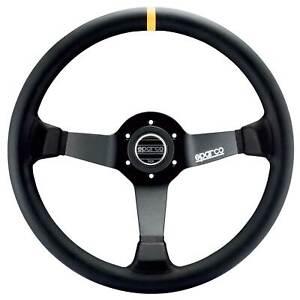 Sparco 325 Steering Wheel - Black Suede - 350mm Diameter - Racing/Rally/Saloon