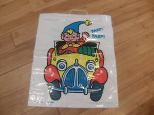 Noddy in his Car – great quality plastic Carrier Bag © NSRC Ltd 1975