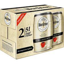 Warsteiner 2x5 Liter Fass Partyfass Bier Bierfass mit Zapfhahn